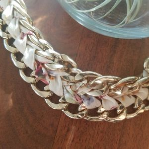 🌟2/$10 Chunky Gold Chain Flowers Braided Bracelet